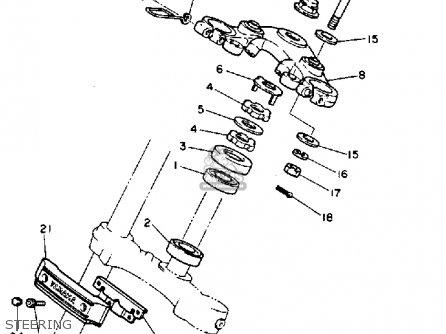 Yamaha Xv1100c Virago 1993 (p) California parts list