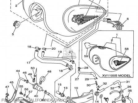 Yamaha XV1100C XV1100SC VIRAGO VIRAGO SPECIAL 1997 (V