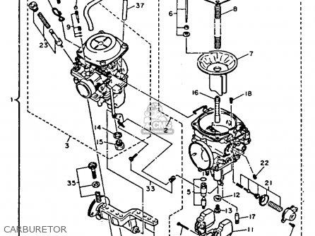 Yamaha Xv1100dc Virago 1992 parts list partsmanual partsfiche