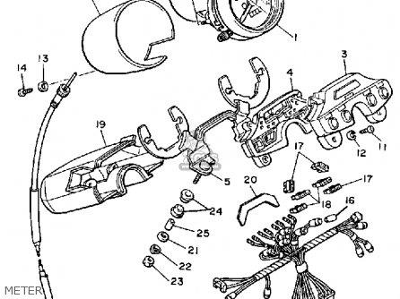 Yamaha Xv1100s Virago 1986/1987 parts list partsmanual