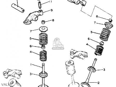 Yamaha Xv1100u Virago 1988 parts list partsmanual partsfiche