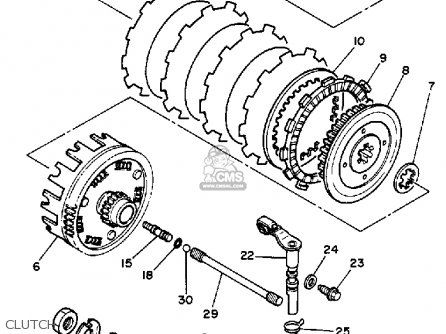 Yamaha Xv250 1989 (k) Usa parts list partsmanual partsfiche