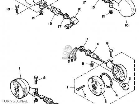 Yamaha Xv250 1989 (k) Usa parts list partsmanual partsfiche
