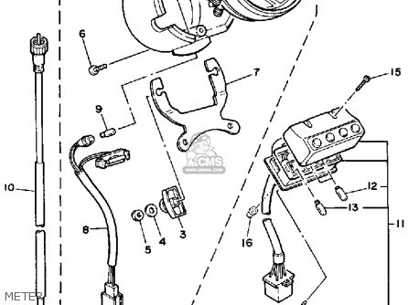 Yamaha Xv250 Route 66 1988 (j) Usa parts list partsmanual