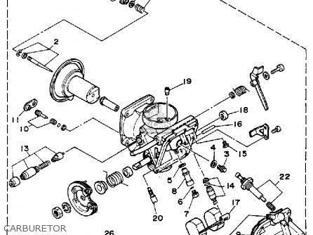 Yamaha Xv250a Route 66 1990 parts list partsmanual partsfiche