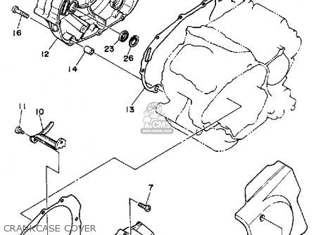 Yamaha Xv250c 1989 (k) California parts list partsmanual