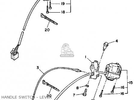 Yamaha Xv250c Route 66 1988 (j) California parts list