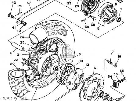 Yamaha Xv250l/lc 1999 parts list partsmanual partsfiche