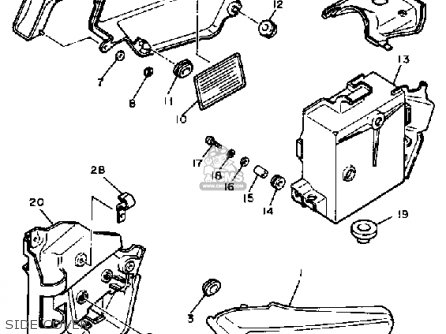 Yamaha XV500 VIRAGO 1983 (D) USA parts lists and schematics