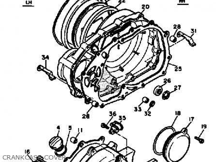 Yamaha Xv500k Virago 1983 parts list partsmanual partsfiche
