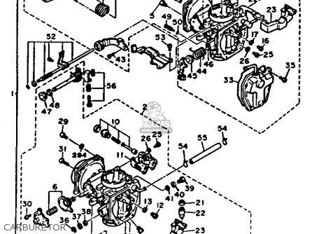 Yamaha Xv535 1987 (h) Usa parts list partsmanual partsfiche