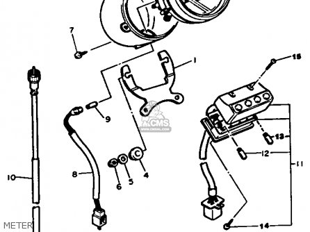 Yamaha XV535 1987 (H) USA parts lists and schematics
