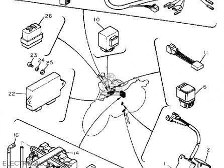 Yamaha Xv535 Virago 1988 (j) Usa parts list partsmanual