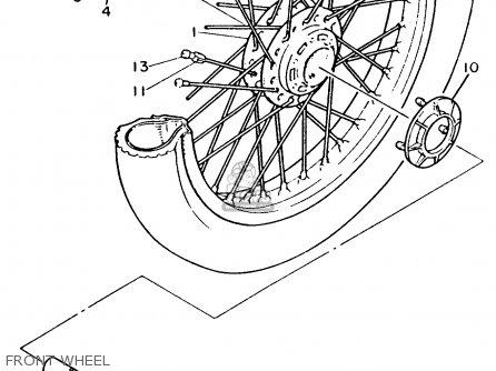 Yamaha Xv535 Virago 1993 (p) Usa parts list partsmanual