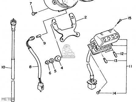 Yamaha XV535 VIRAGO 1993 (P) USA parts lists and schematics