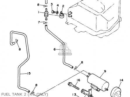 Yamaha Xv535 Xv535c 1998 (w) Usa California parts list