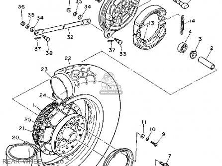 Yamaha Xv535a Virago 1990 parts list partsmanual partsfiche
