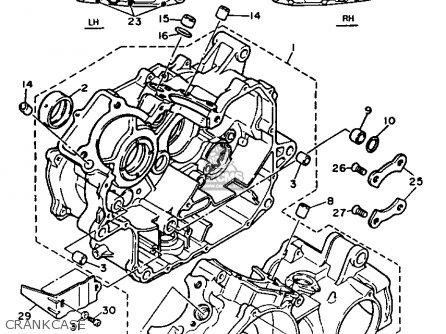 Yamaha Xv535c 1987 (h) California parts list partsmanual