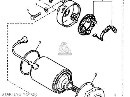 Yamaha XV535C 1987 (H) CALIFORNIA parts lists and schematics