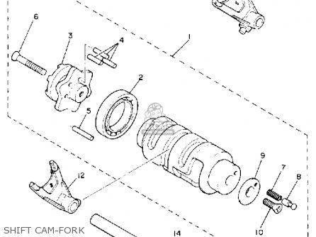 Yamaha XV535C VIRAGO 1990 (L) CALIFORNIA parts lists and