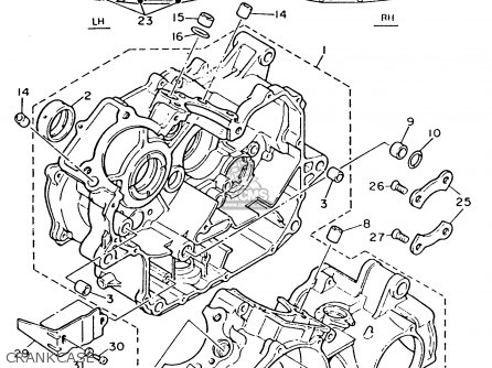 Yamaha XV535C VIRAGO 1993 (P) CALIFORNIA parts lists and
