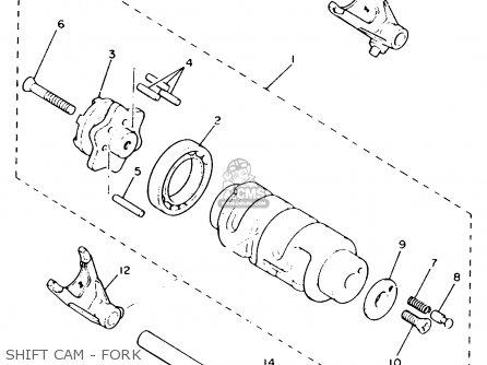 Yamaha Xv535c Virago 1993 (p) California parts list