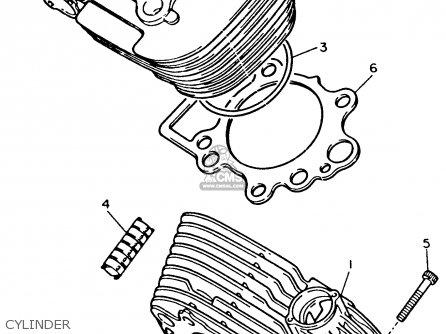 Yamaha Xv535e Virago 1993 parts list partsmanual partsfiche