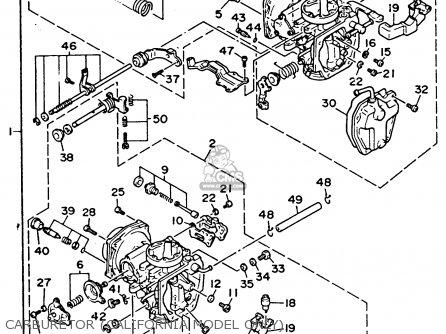 Yamaha Xv535ec Virago 1993 parts list partsmanual partsfiche