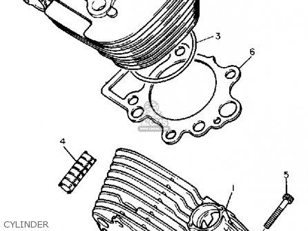 Yamaha Xv535u Virago 1988 parts list partsmanual partsfiche