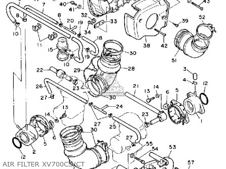 Yamaha Xv700 Ct 1986/1987 parts list partsmanual partsfiche