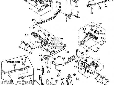 Yamaha Xv700c 1986 (g) Usa parts list partsmanual partsfiche