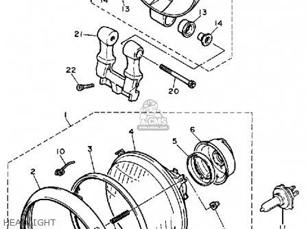 Yamaha Xv700c 1987 (h) Usa parts list partsmanual partsfiche