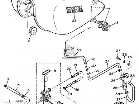 Yamaha Xv700c Virago 1984 (e) California parts list