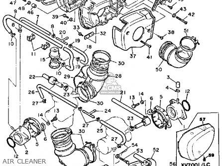 Yamaha Xv700l 1984/1985 parts list partsmanual partsfiche