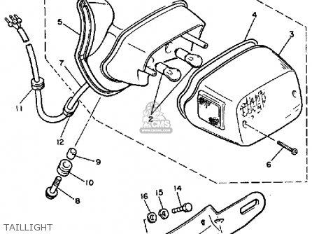 Yamaha Xv700s Virago 1986 (g) Usa parts list partsmanual