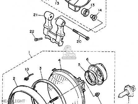 Yamaha XV700SC VIRAGO 1986 (G) CALIFORNIA parts lists and