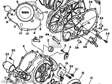 Yamaha Xv700ss Virago 1986 parts list partsmanual partsfiche