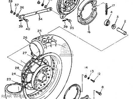 Yamaha Xv700ssc Virago 1986 parts list partsmanual partsfiche