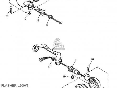 Yamaha Xv750-1 Virago 1997 (v) Usa parts list partsmanual