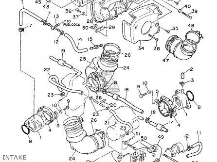 Yamaha XV750-1 VIRAGO 1997 (V) USA parts lists and schematics