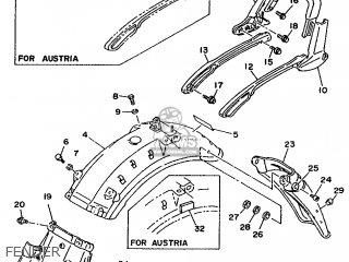 Yamaha Xv750 1993 4gk1 Switzerland 234gk-361e1 parts list