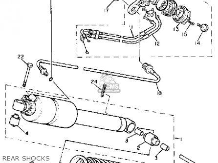 Yamaha Xv750 Virago 1981 (b) Usa parts list partsmanual