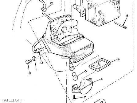 Yamaha XV750 VIRAGO 1981 (B) USA parts lists and schematics