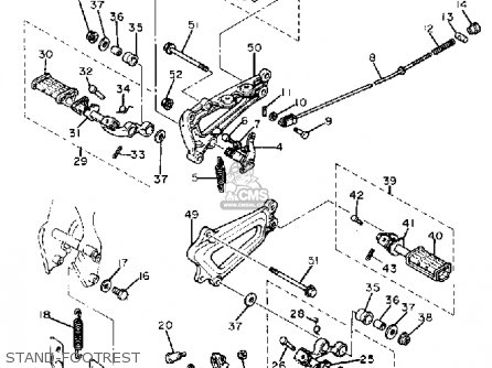 Yamaha Xv750 Virago 1982 (c) Usa parts list partsmanual