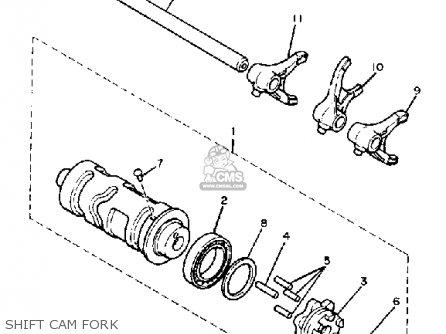 Yamaha XV750 VIRAGO 1983 (D) USA parts lists and schematics