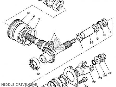 Yamaha Xv750 Virago 1988 (j) Usa parts list partsmanual