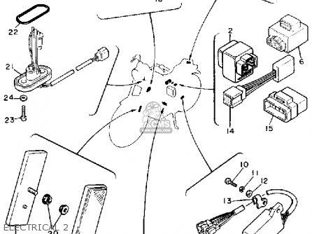 Yamaha Xv750 Virago 1989 (k) Usa parts list partsmanual