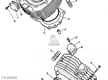 Yamaha XV750 VIRAGO 1990 (L) USA parts lists and schematics