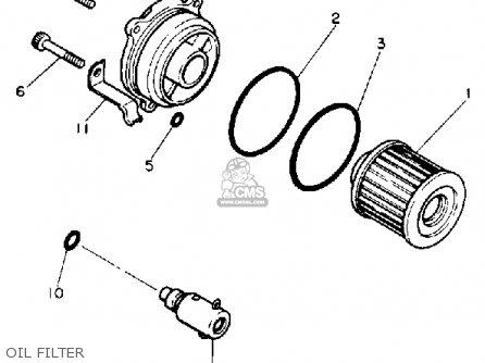 Yamaha Xv750 Virago 1990 (l) Usa parts list partsmanual