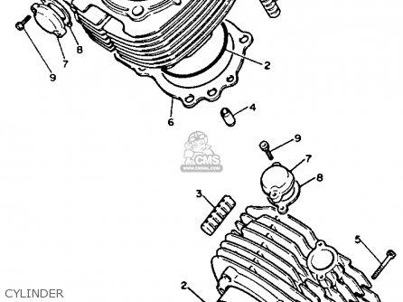 Yamaha XV750 VIRAGO 1991 (M) USA parts lists and schematics